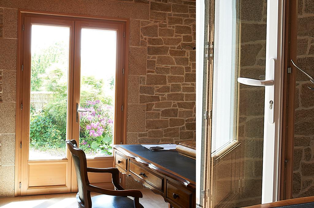huet portes fen tres bois aluminium. Black Bedroom Furniture Sets. Home Design Ideas