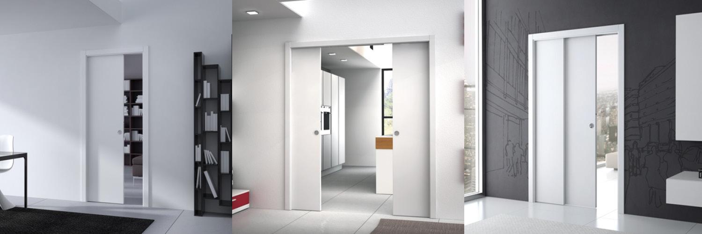 Portes coulissantes et portes à galandage